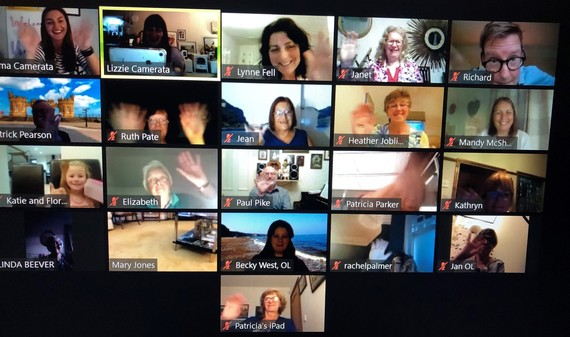 Screenshot of an online zoom workshop with participants.